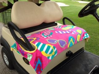 Fun In The Sun Golf Cart Seat cover  totemearound.com