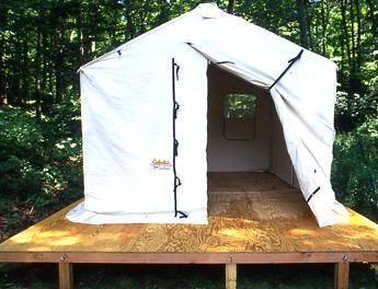 Platform tent backyard ideas pinterest tent for Tent platform construction