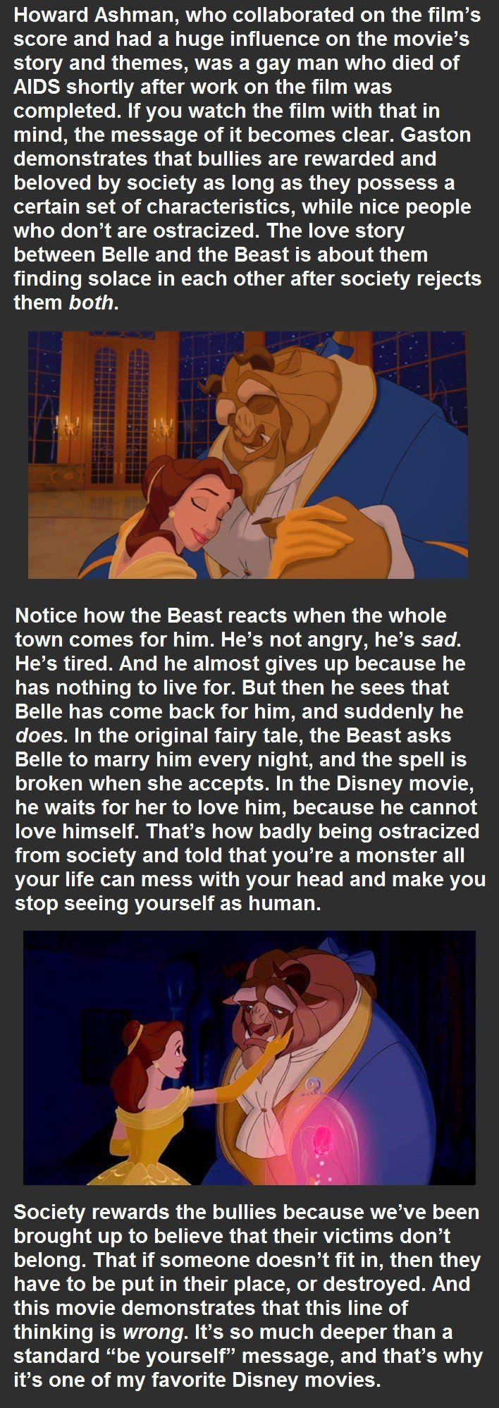A Life Lesson From Disney's Beauty And The Beast that Tells a Powerful Message I Hope to Spread One Day (Part II) . . . .
