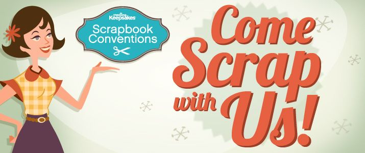 """CK Scrapbook Conventions = I am a fan. Classes + shopping + making stuff with other scrapbookers and paper crafters + being in a room with 100s of other people who """"get it"""" = a good time!"""