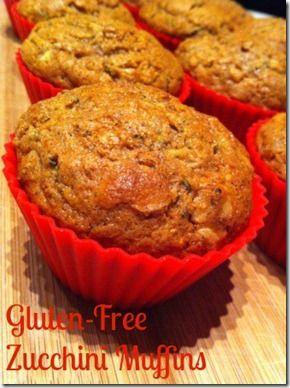 Delicious gluten-free zucchini muffins using Pamela's Baking & Pancake mix