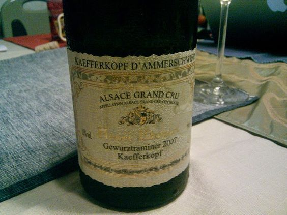 Behind the French Menu: Gewurztraminer the white, semi-dry wine. The best is the Gewurztraminer AOP (AOC) from the Alsace, France.