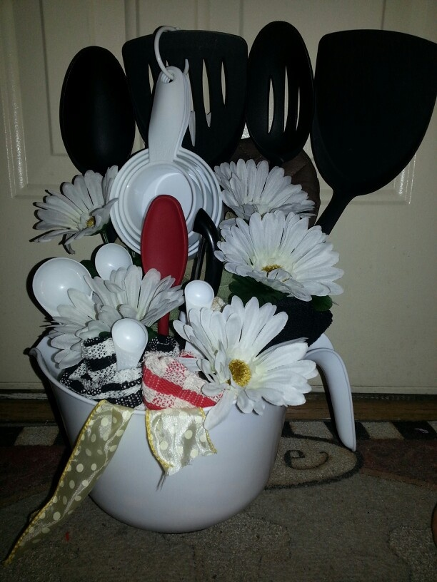 Bridal shower idea, utensils, and towels ...