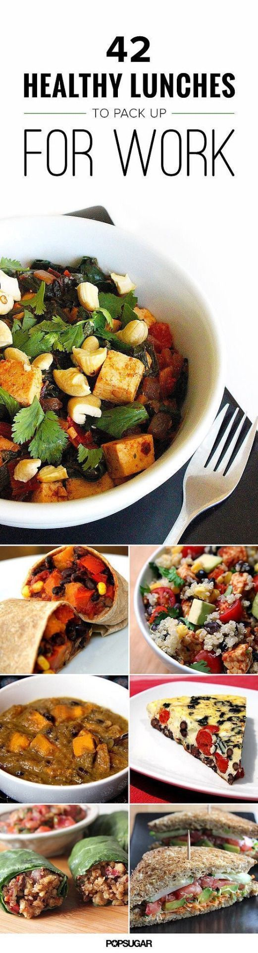 Bringing your own lunch to work keeps you in charge of the ingredients that fuel your body and helps you perform at your best both at work and in the gym. Regardless of your dietary limitations and preferences, (at least!) one of these 50 healthy recipes will fit the bill and make its way into your lunchtime rotation.