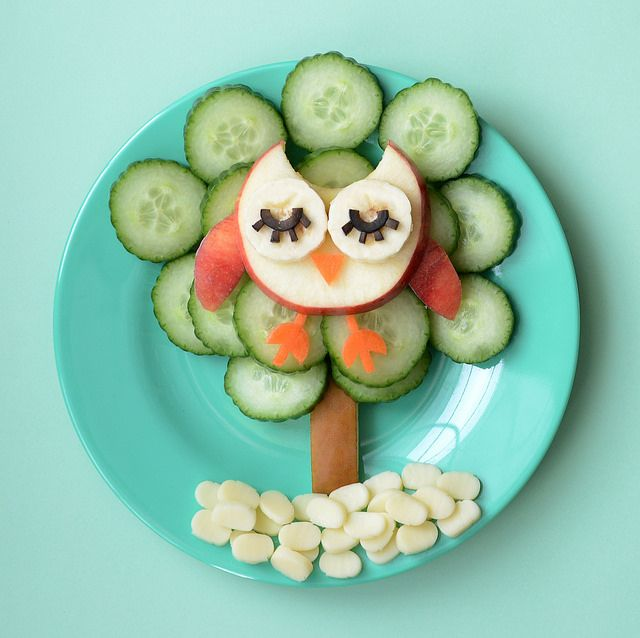Apple Banana Carrot Owl in a Cucumber Tree (Other ideas here)
