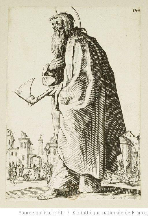 [Les grands apôtres debout, représentant le Sauveur, la Bienheureuse Marie et les saints apôtres]. [15], [Saint Thaddée ou saint Jude] : [estampe] / [Jacques Callot] - 1