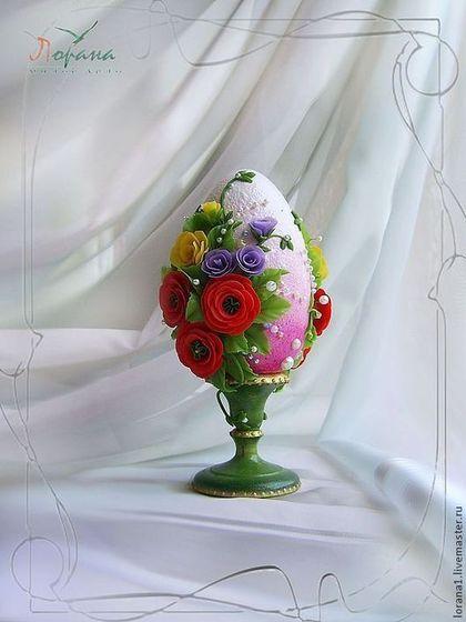 """Пасхальный сувенир. Яйцо """"Яркие краски весны"""". - Пасха,подарки к праздникам"""