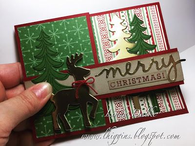 Linda Dalke: My first Z Fold card with the Santa's Sleigh Bundle from…