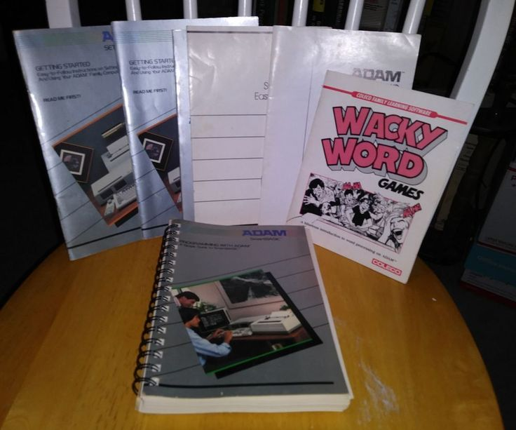 Vintage Lot of 1980's Adam Coleco Vision Family Computer Software Booklets