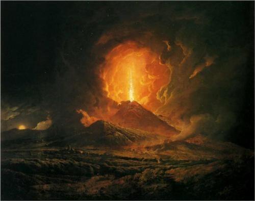 An Eruption of Vesuvius, seen from Portici - Joseph Wright