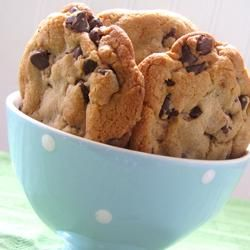 """Best Big, Fat, Chewy Chocolate Chip Cookie """"These cookies are the pinnacle of perfection! If you want a big, fat, chewy cookie like the kind you see at bakeries and specialty shops, then these are the cookies for you!"""": Fun Recipes, Chocolate Chips, Chocolates, Cookie Recipe, Chewy Chocolate, Big Fat, Chocolate Chip Cookies"""