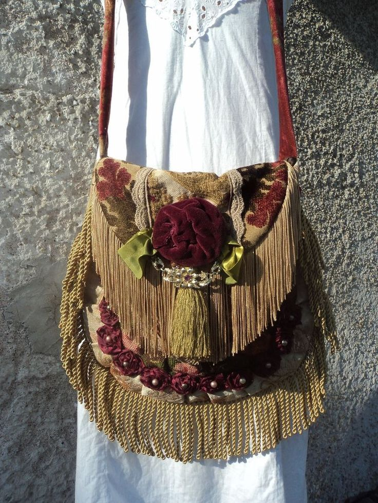 Handmade Boho Fringe Carpet Bag Artisan Gypsy Hippie Cross Body Purse tmyers #Handmade #MessengerCrossBody