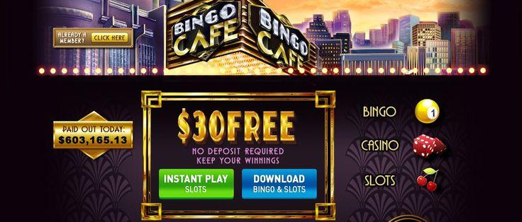 FREE $30 (no deposit required)  ☕️Casino Bingo Café☕️  http://www.gamesandcasino.com/bingo/cafe.htm  #casino #bingo #free