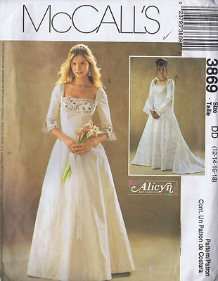 Evening Wedding Dress Sewing Pattern Mccall S 3869 Bust 34 40 Hip 33 5 36 Uncut Pinterest Patterns Dresses And