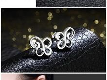hot selling Sterling Sliver Fashion Jewelry 925 Sterling Silver Earrings Beautiful women Earrings Free shipping(China (Mainland))