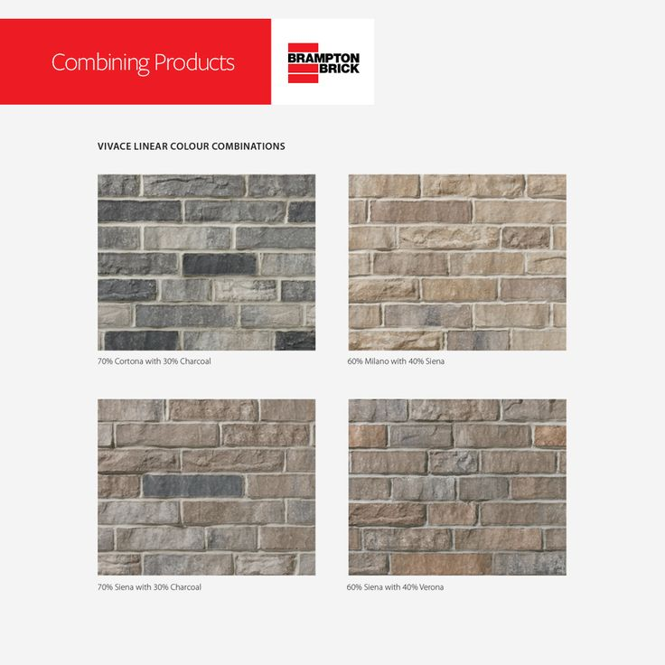 VIVACE LINEAR COLOUR COMBINATIONS   Download Brampton Brick's 2017 Residential Masonry Products for tips and design ideas.