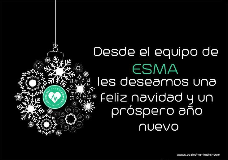 Feliz Navidad y próspero año nuevo! Les deseamos un año lleno de salud y nuevos retos! #marketingsanitario #navidad