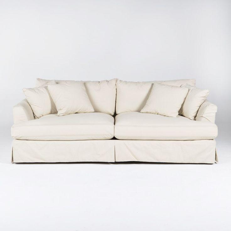 Maxine Slipcover Sofa - Cream