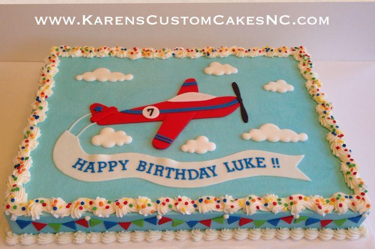 Airplane half sheet cake.