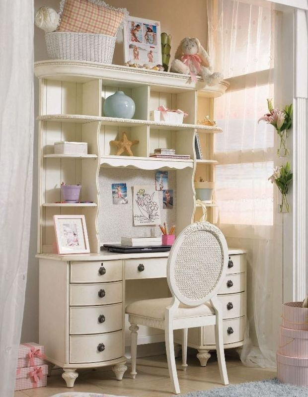 Cute and casual vintage white girl bedroom set and for Cute bedroom furniture sets