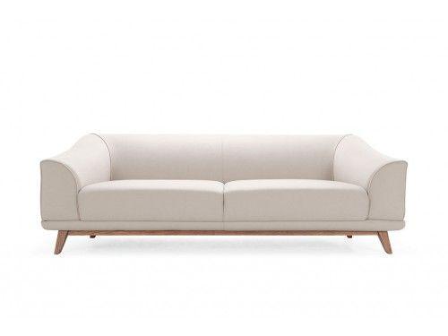 Vita, 3-seater sofa, Andie Sand, Smoked Oak Legs