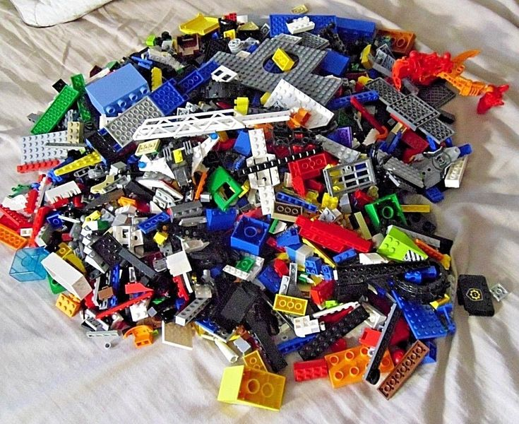 7 lbs Pounds Lego Parts Pieces from HUGE BULK LOT, bionicle, duplo