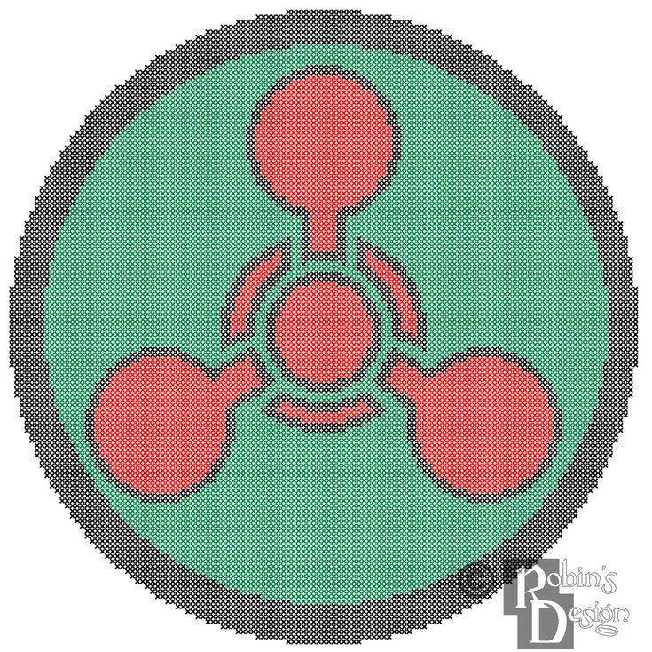 New to robinsdesign on Etsy: Chemical Hazard Symbol Cross Stitch Pattern PDF (5.00 USD)