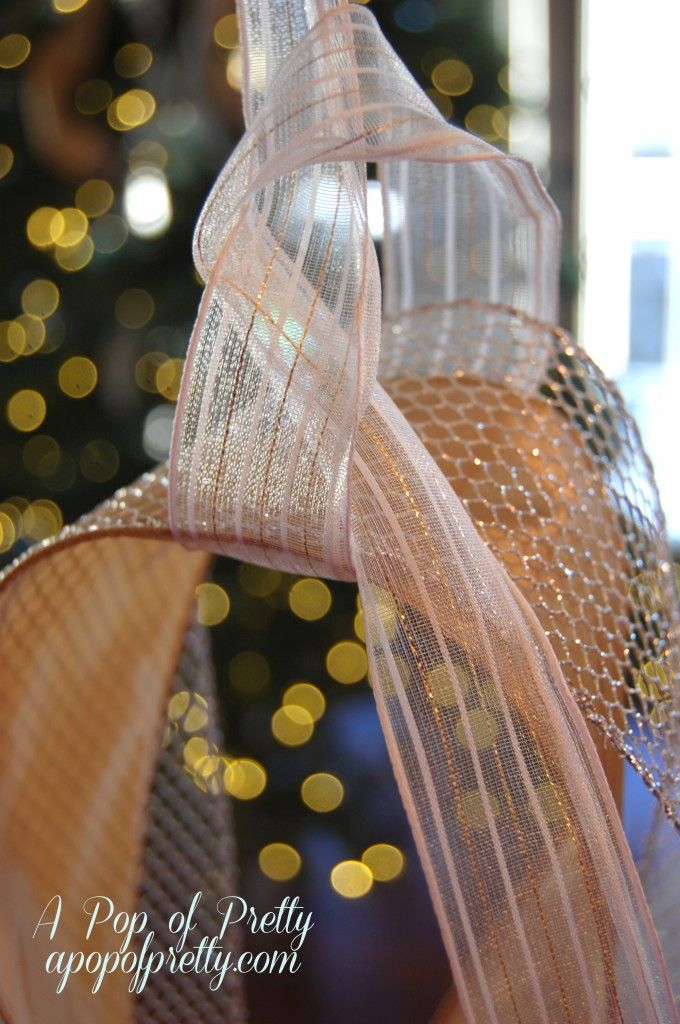 Christmas Decorating Tip: How to Add Ribbon to Your Tree