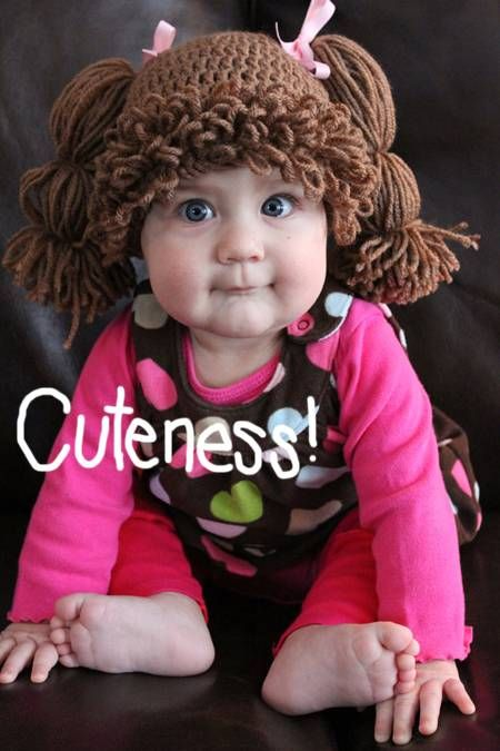 Crocheted Cabbage Patch Kids Wigs Are All The Rage!Permalink