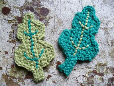 Elm Leaf Knitting Pattern : Oak leaves to go with acorn hat. Im thinking big ones for earflaps! Cr...