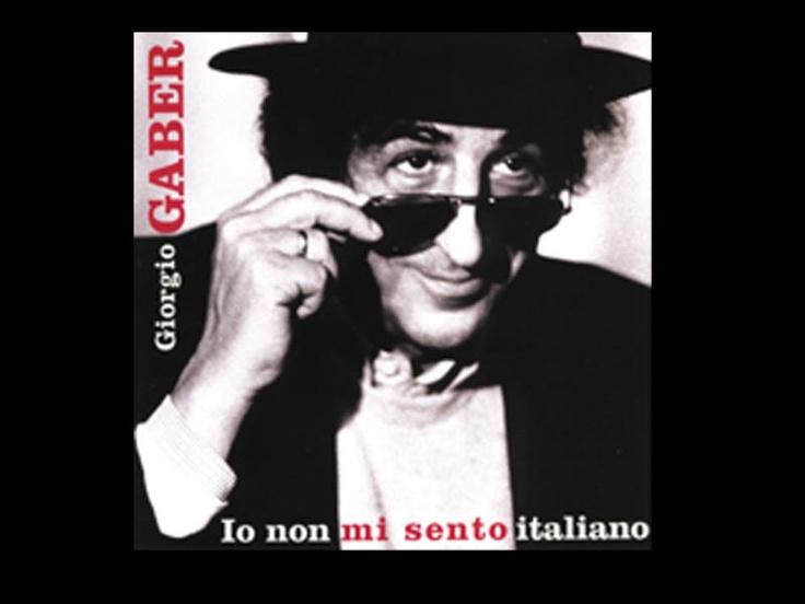 """Giorgio Gaber - Io non mi sento italiano - 2003    """"... quest'assalto di tecnologia  ci ha sconvolto la vita.  Forse un uomo che allena la mente  sarebbe già pronto  ma a guardarlo di dentro  è rimasto all'ottocento""""   (Il tutto è falso)"""