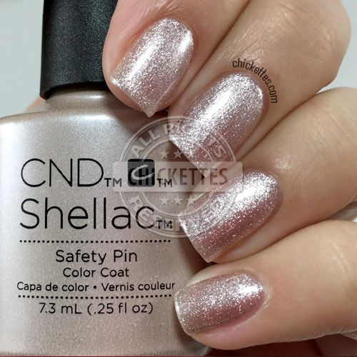 nails.quenalbertini: CND Shellac Safety Pin | Chickettes                                                                                                                                                      More