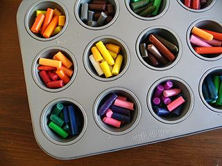 I've done this craft a number of times with my boys. They love it and I feel good about re-cycling crayons :)