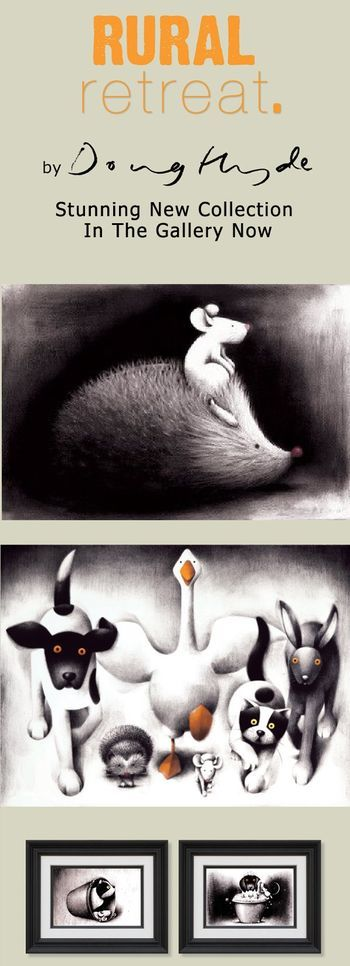 """""""Rural Retreat"""" We have a collection of Doug's work here >> bluestoneart.co.uk/product-category/artists/doug-hyde/"""