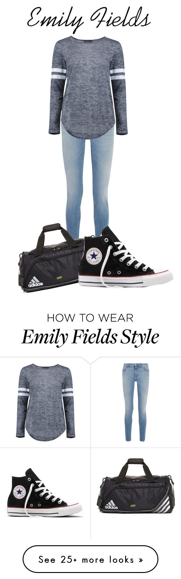 """""""Emily Fields: Casual"""" by aquamarine03 on Polyvore featuring Givenchy, adidas, Converse and Boohoo"""