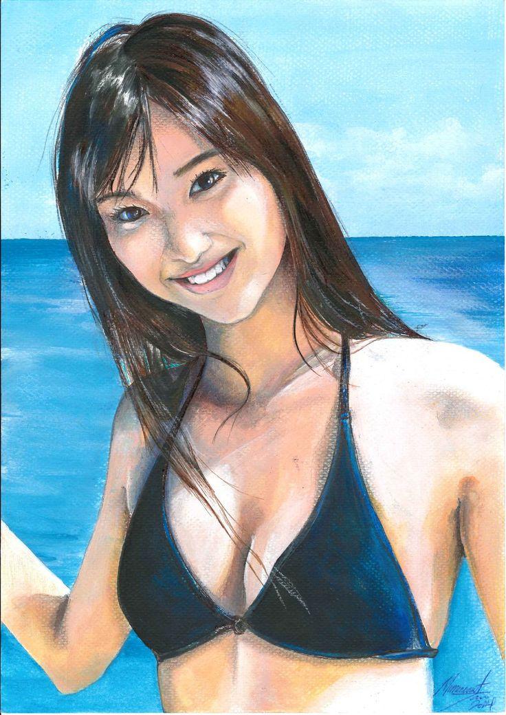 Shinkawa Yua - Mixed media ( Acrylic paint and pencil) 30/11/2014