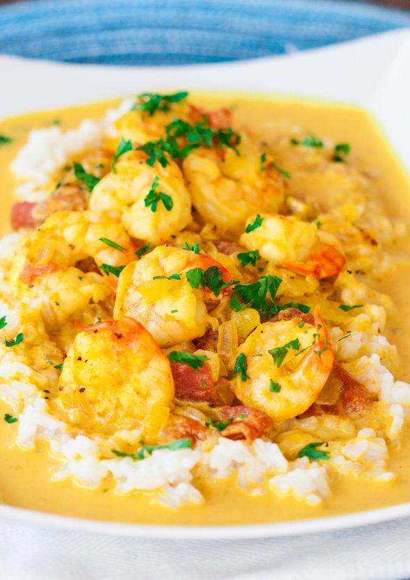 Coconut Shrimp Curry –tasty and flavorful coconut shrimp curry, comfort food at its finest.