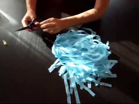 Tutorial pompones de animadora (cheerleader) - YouTube