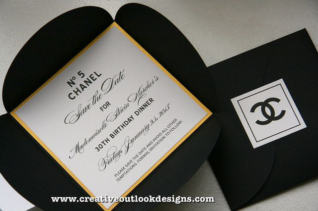 Our Chanel Inspired Save The Date #invitation