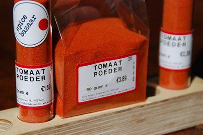 Tomaten poeder! Bij Spicebazaar in Gent