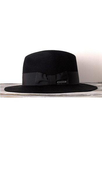 Stetson chapeau femme Iona noir------ #stetson #femme #women #chapeau #hat #black #noir #feutre