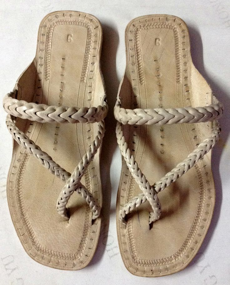 Cross Braid Leather Sandal