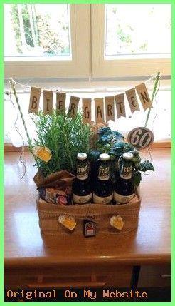 Gift Boyfriend Unique Beer Garden 60. Verjaardag cadeau #diygiftsforboyfriendjus…