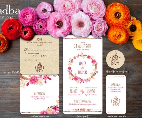 Carton Invitation – Svadba | La Crafterie