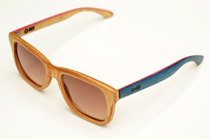 Hand made sunglasses, recycled from a Stereo skateboard. by U-FIT/ARGENTINA