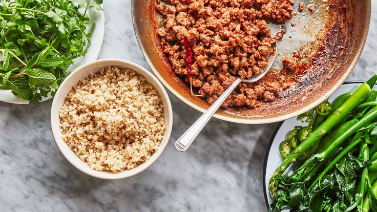Garlic-Chile Ground Pork. The ultimate all-purpose grain bowl topper. Or serve on cooked ramen. Or in flour tortillas with cabbage and hoisin!!!