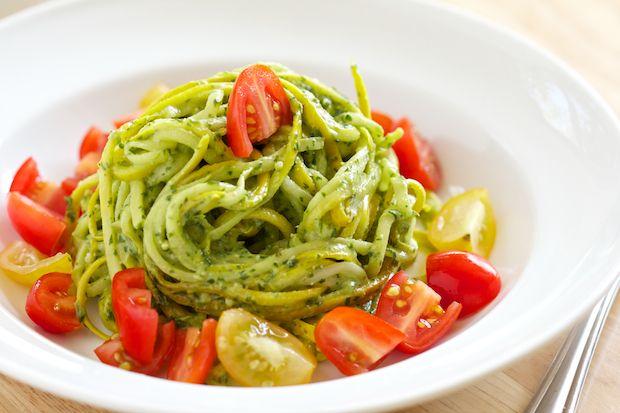 Cilantro Pesto over Zucchini Noodles | GI 365