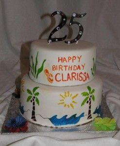 Happy Birthday Cake 25 Years Old Yummy Pinterest