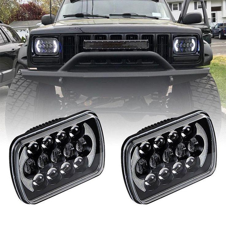 "85W 7x6'' 5X7"" LED Projector Headlight Hi-Lo Beam Halo DRL For Jeep Cherokee XJ | eBay Motors, Parts & Accessories, Car & Truck Parts | eBay!"