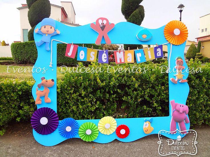 Marco para fotos Pocoyo niño baby shower